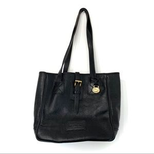 Vintage Dooney and bourke leather tote bag black